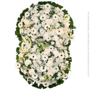 Coroa de Flores Suprema Branca